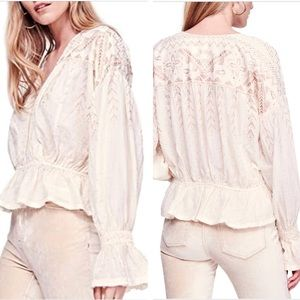 NWT Free People Counting Stars Blouse